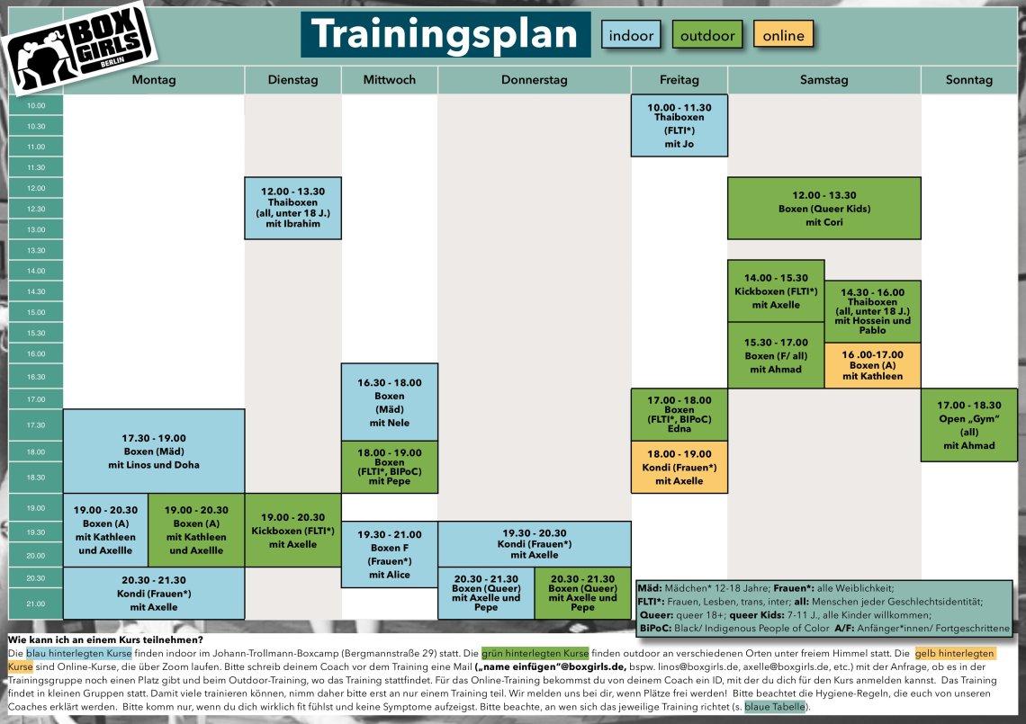 Trainingsplan Maske 2020-06-18